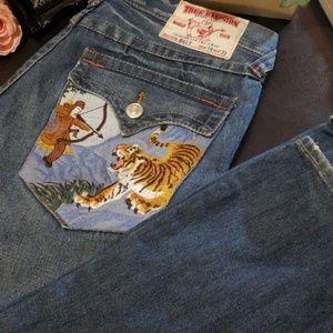 True Religion Billy Tiger size 33 inseam 34 Tiger
